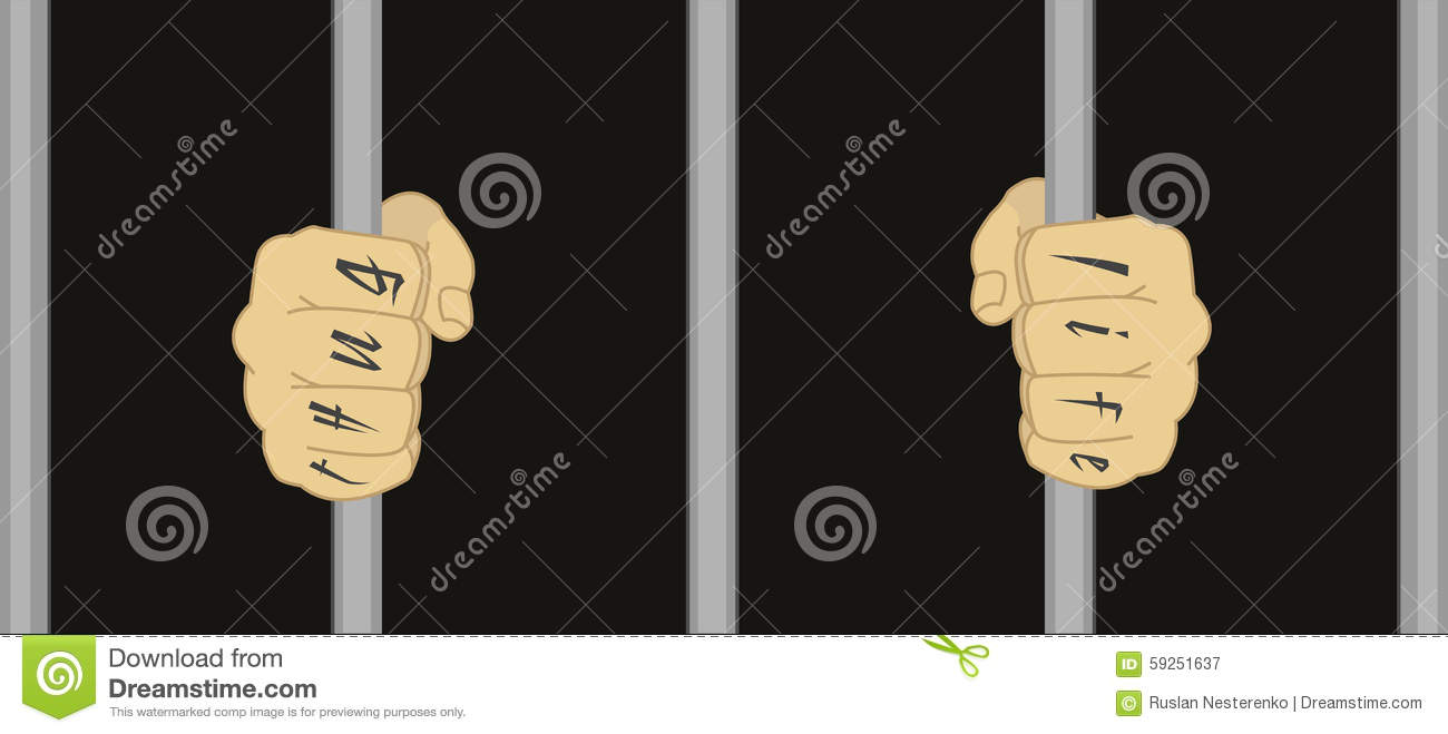 man in prison stock vector image 59251637. Black Bedroom Furniture Sets. Home Design Ideas