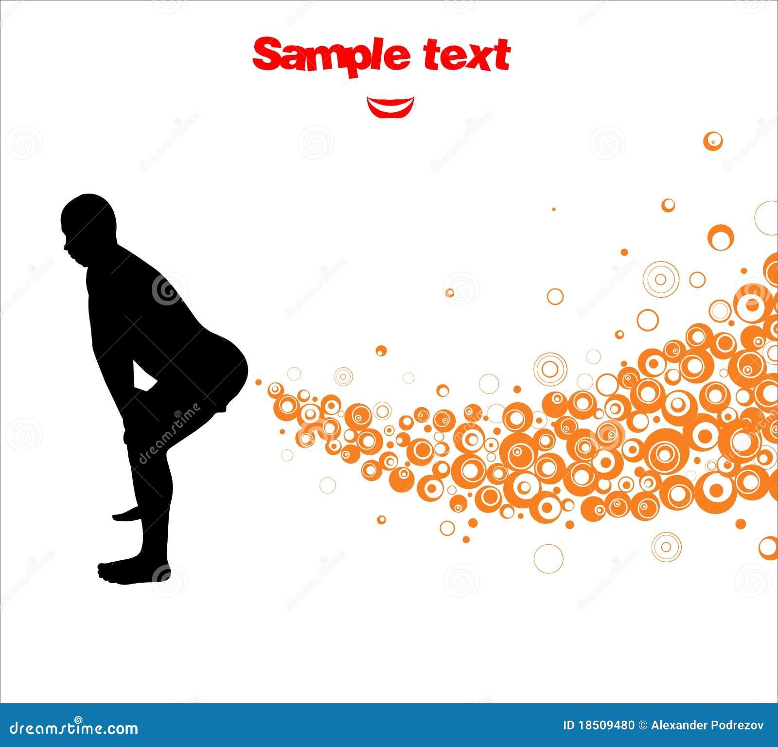 man produces gases stock illustration illustration of hand 18509480