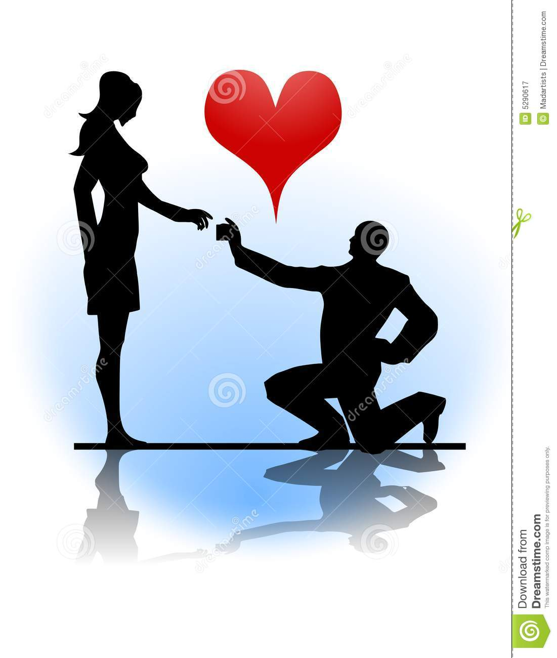 Man Proposing Marriage To Woman Royalty Free Stock Photography - Image