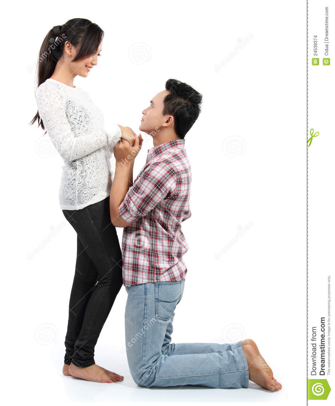 Man Proposing To Girlfriend Stock Images