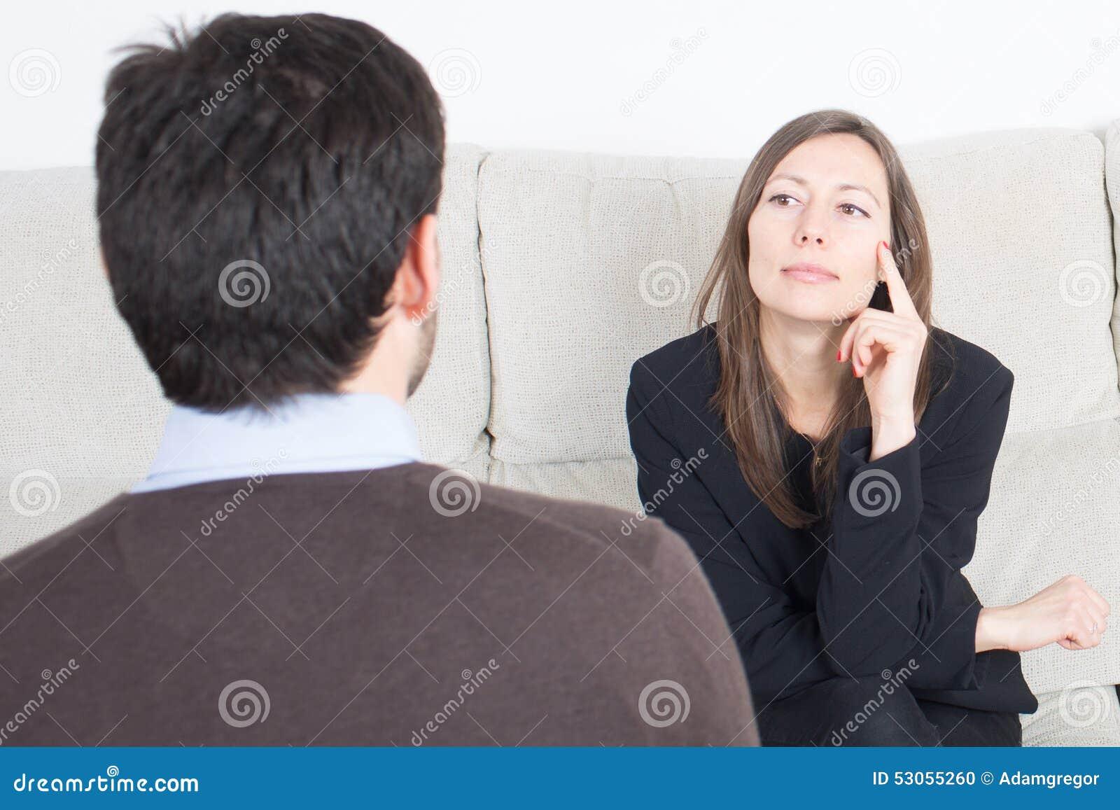 Man during psychoanalysis