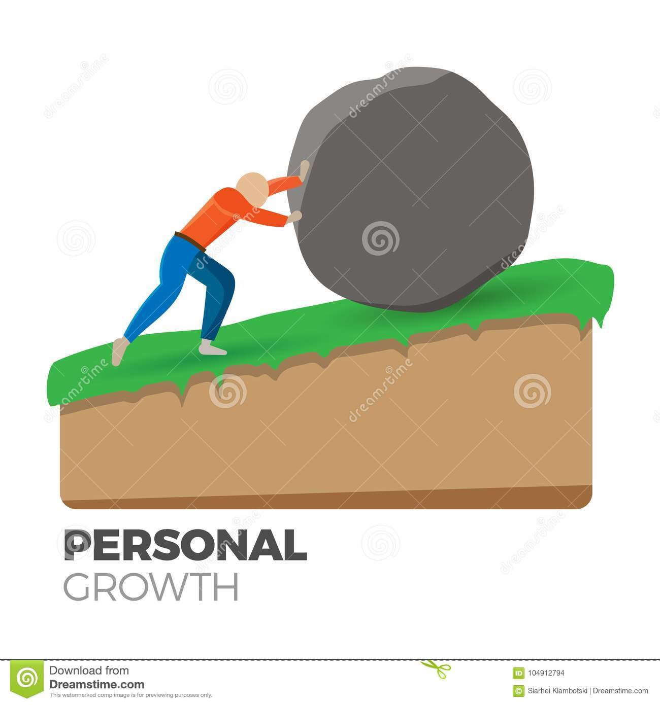 Personal Growth Concept Stock Vector Illustration Of Growth 104912794
