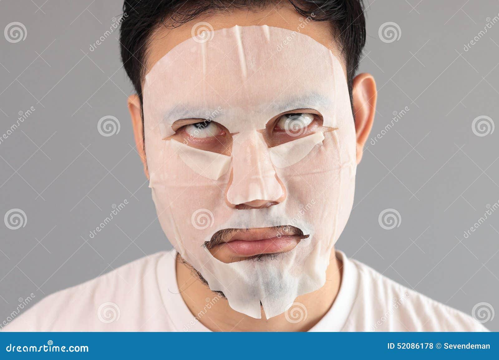 Man put on treatment mask.