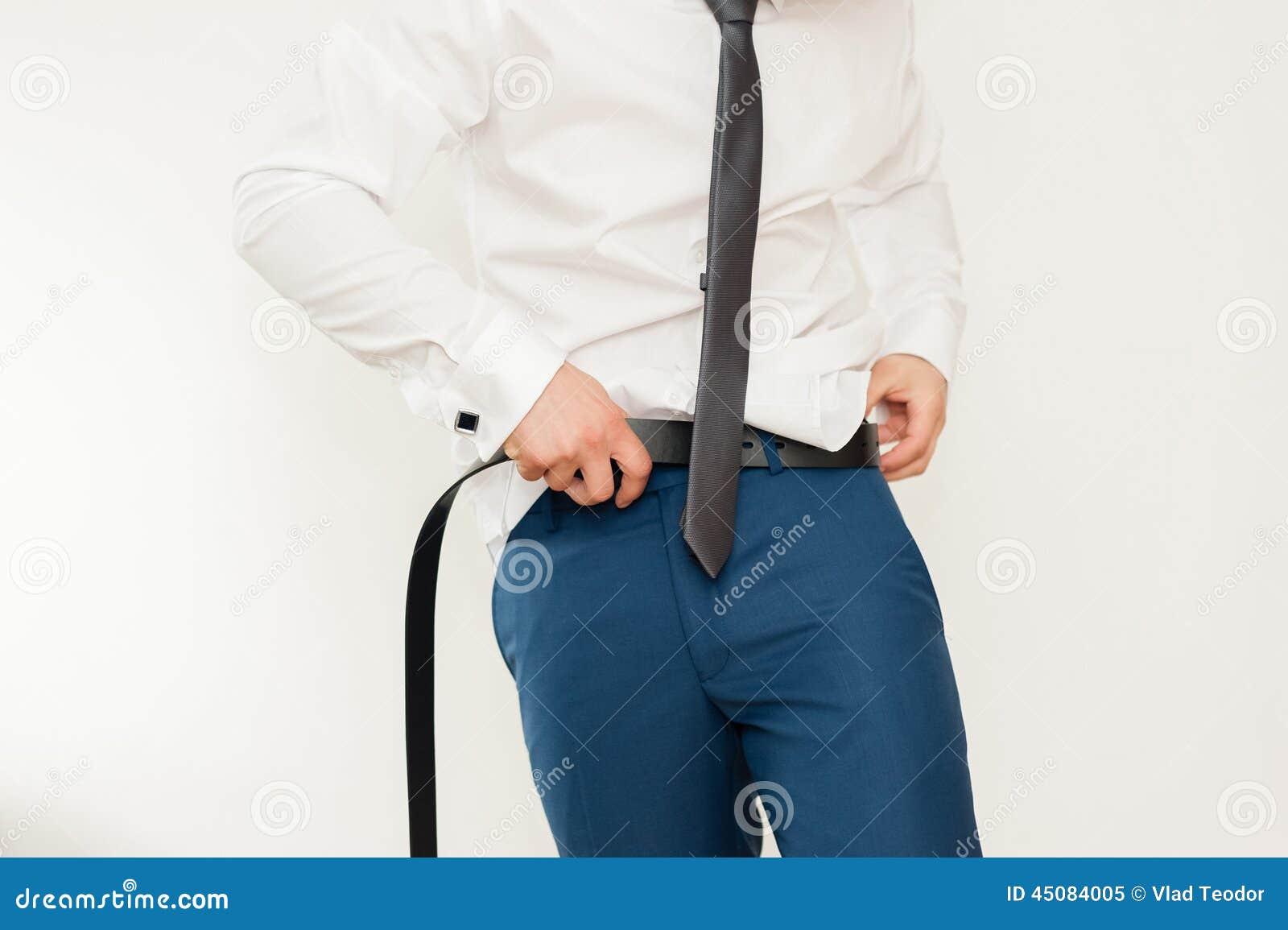 Man Putting On A Belt, Businessman, Politician, Man`s ...