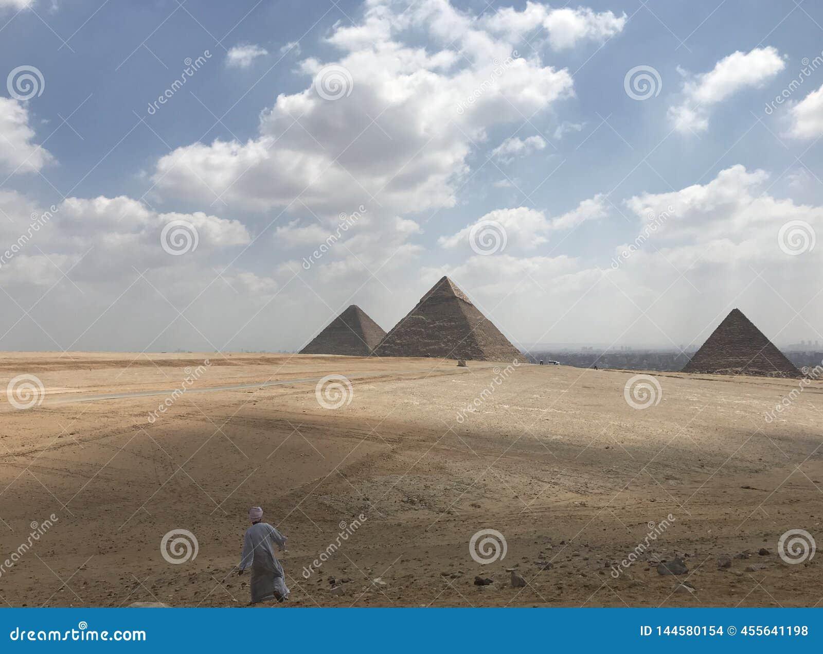 Man and the Pyramid