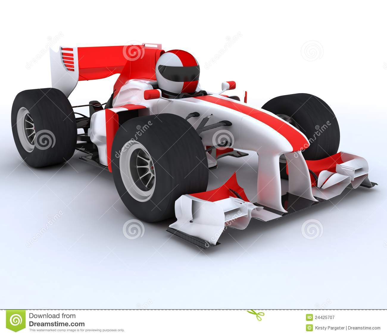 Man With Racing Car Royalty Free Stock Photography