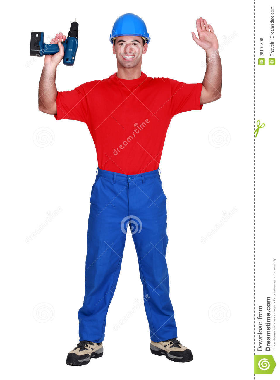 Man With Raised Arms Royalty Free Stock Photos - Image: 28191598