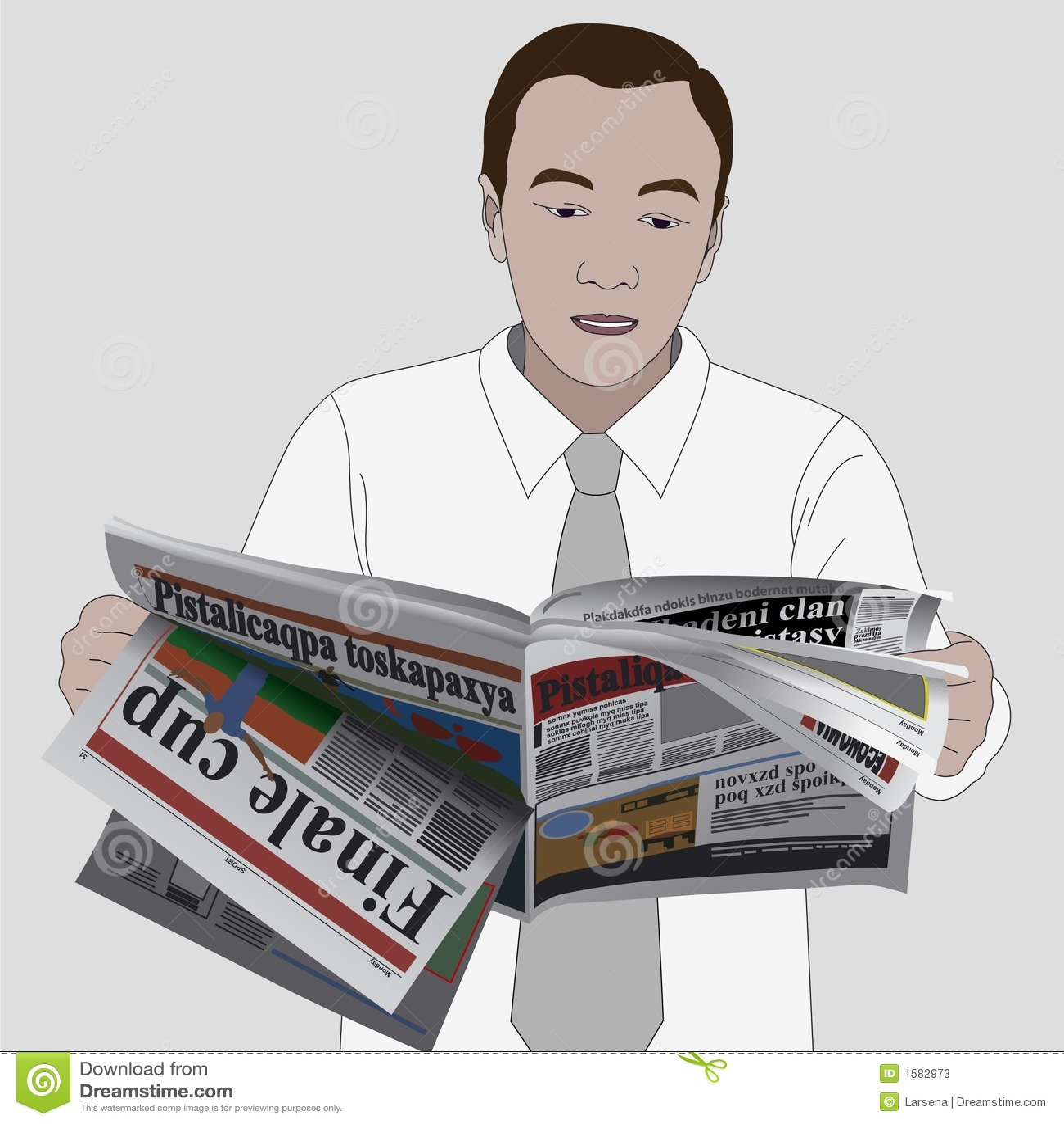 Reading news paper