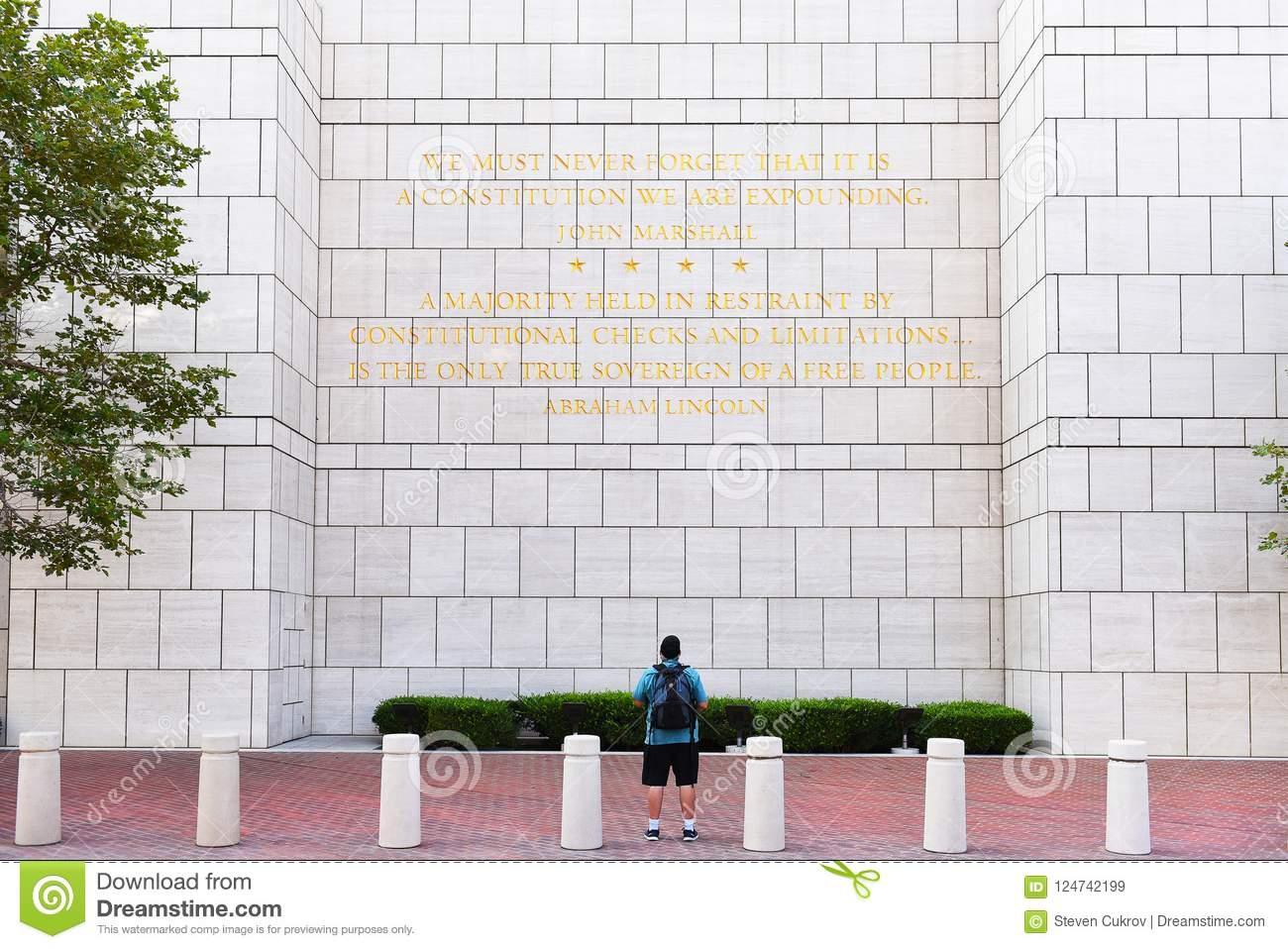 Man Reading Quotes The Ronald Reagan Federal Building