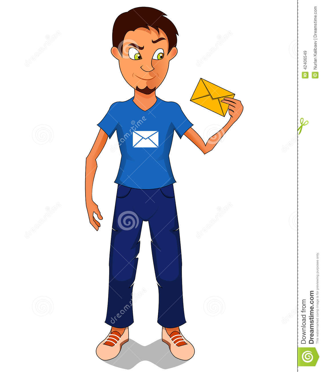 9 Letter Cartoon Characters : Man received the new letter cartoon character with web