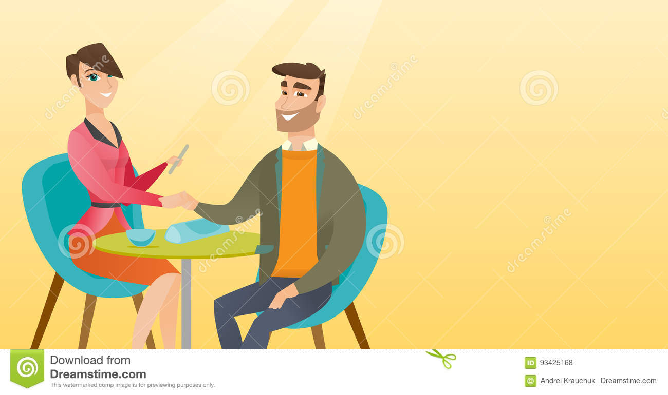 Man Receiving Manicure In Nail Salon Stock Vector Illustration Of