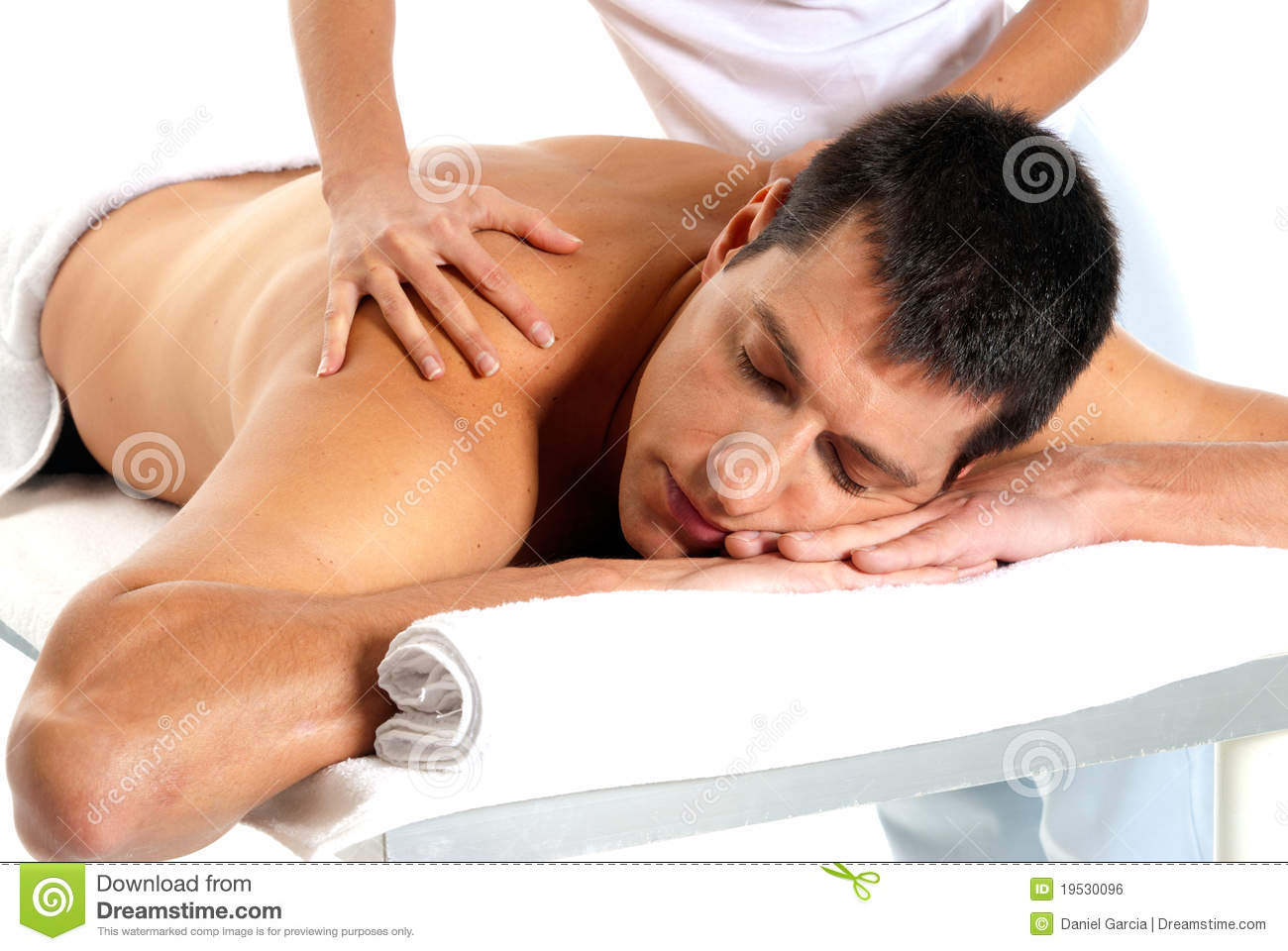 man receiving massage relax treatment close up stock photo image of close happy 19530096. Black Bedroom Furniture Sets. Home Design Ideas