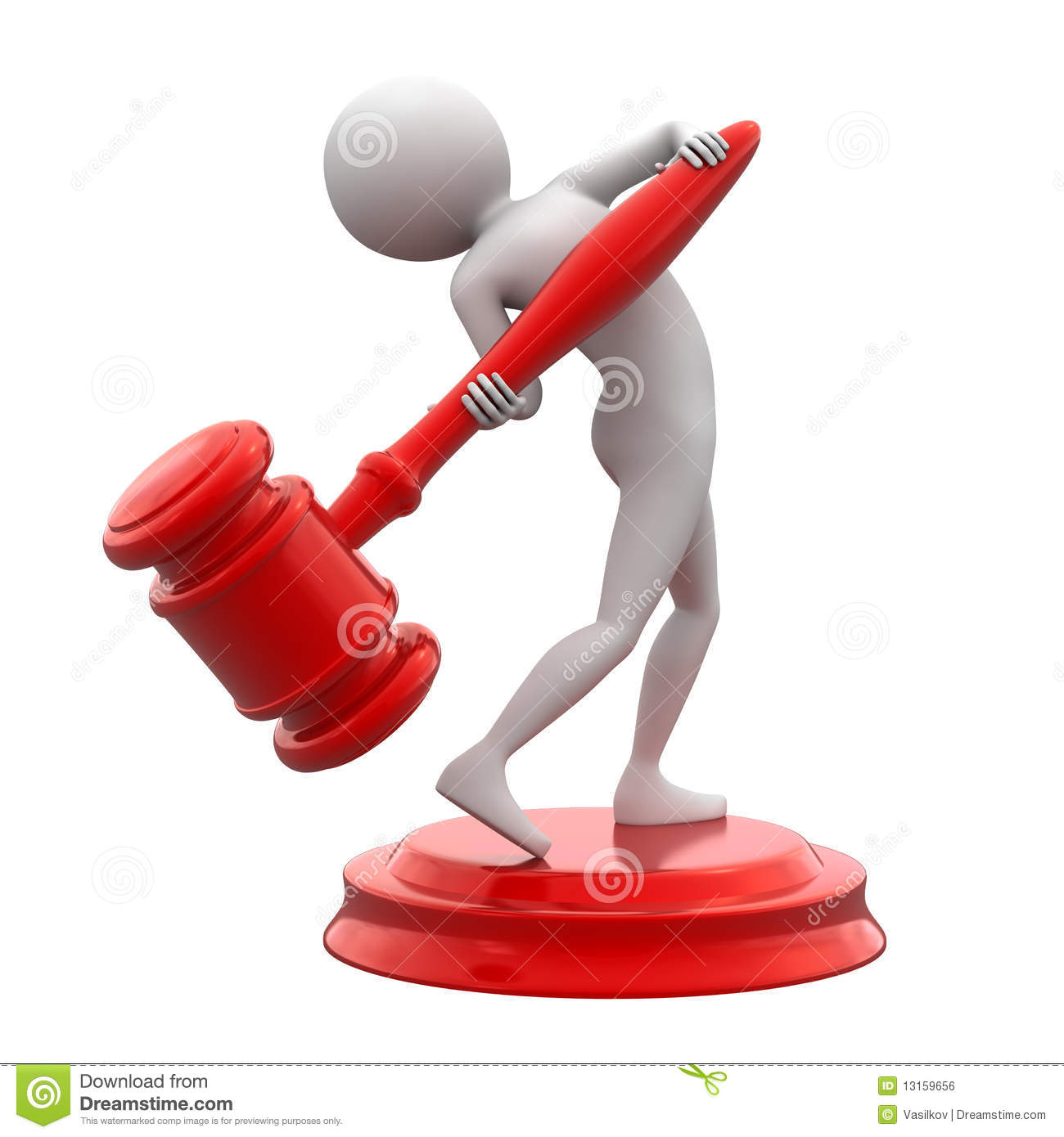 Man With Red Gavel