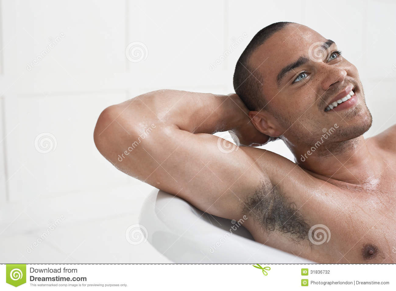 Man Relaxing In Bathtub Stock Photography Image 31836732