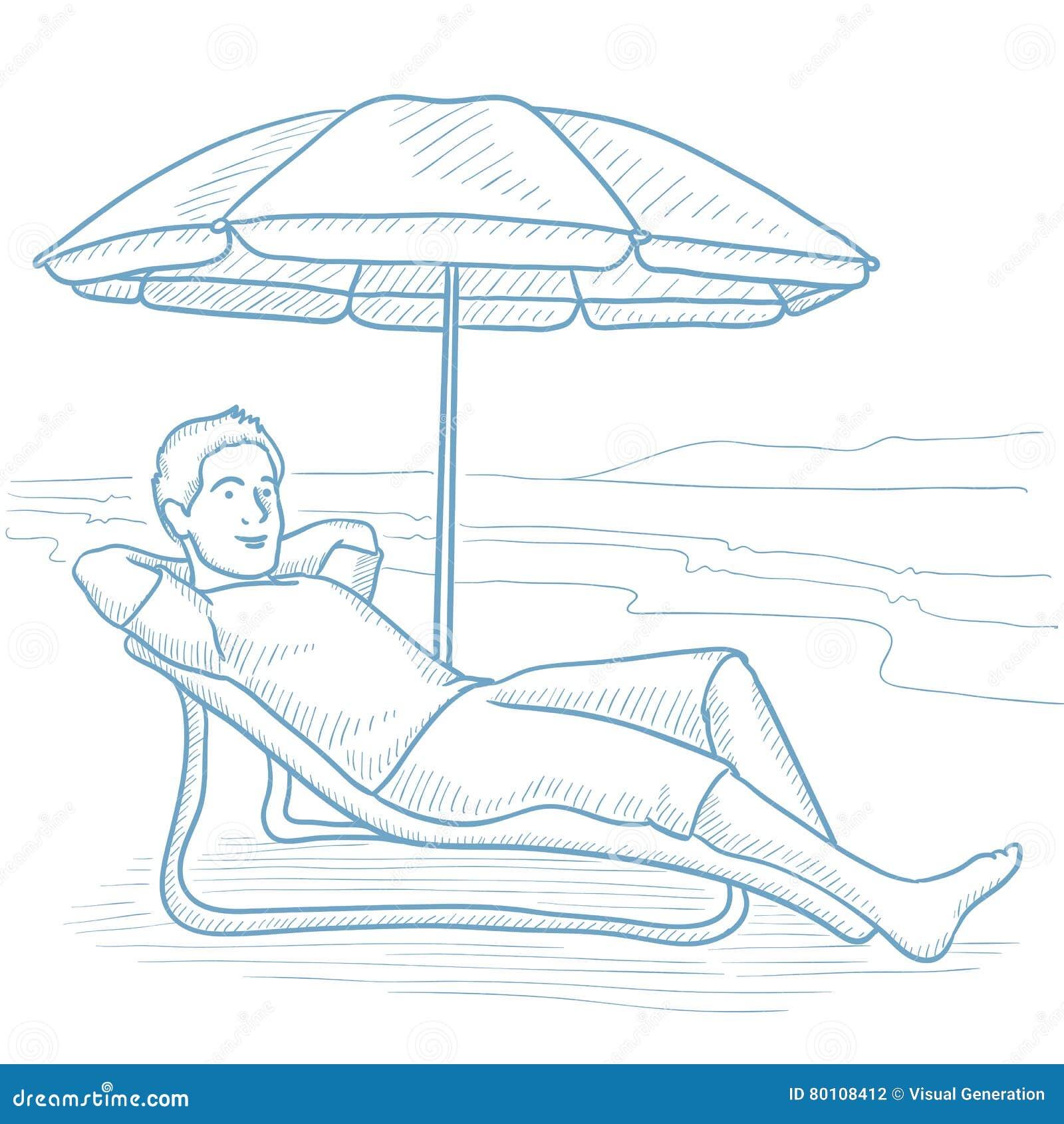 Easy beach chair drawing - Background Beach Chair