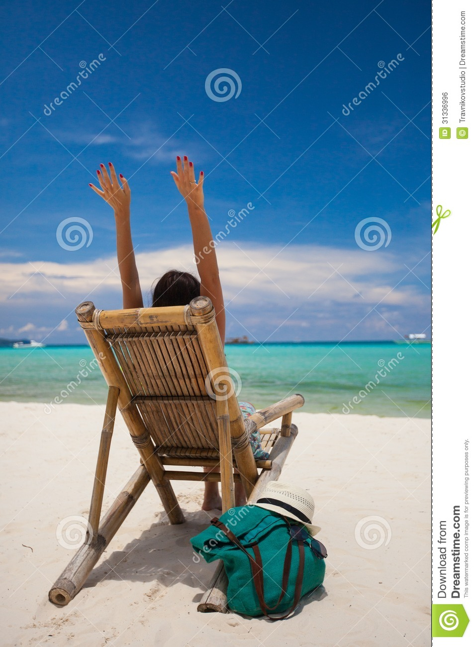 Man Relaxing On The Beach Stock Photo Image Of Nature