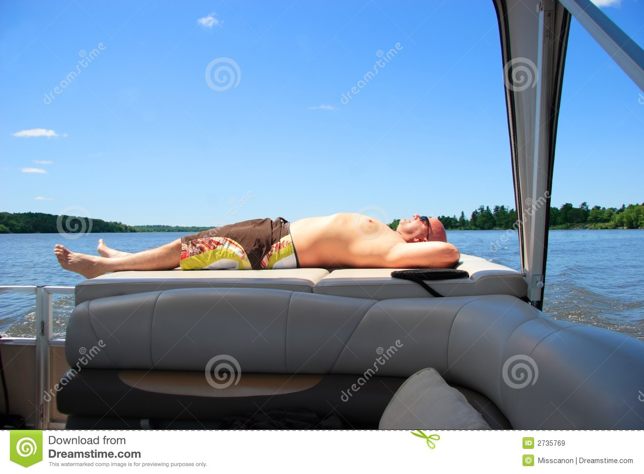 Man Relaxing On A Boat Royalty Free Stock Images - Image ...