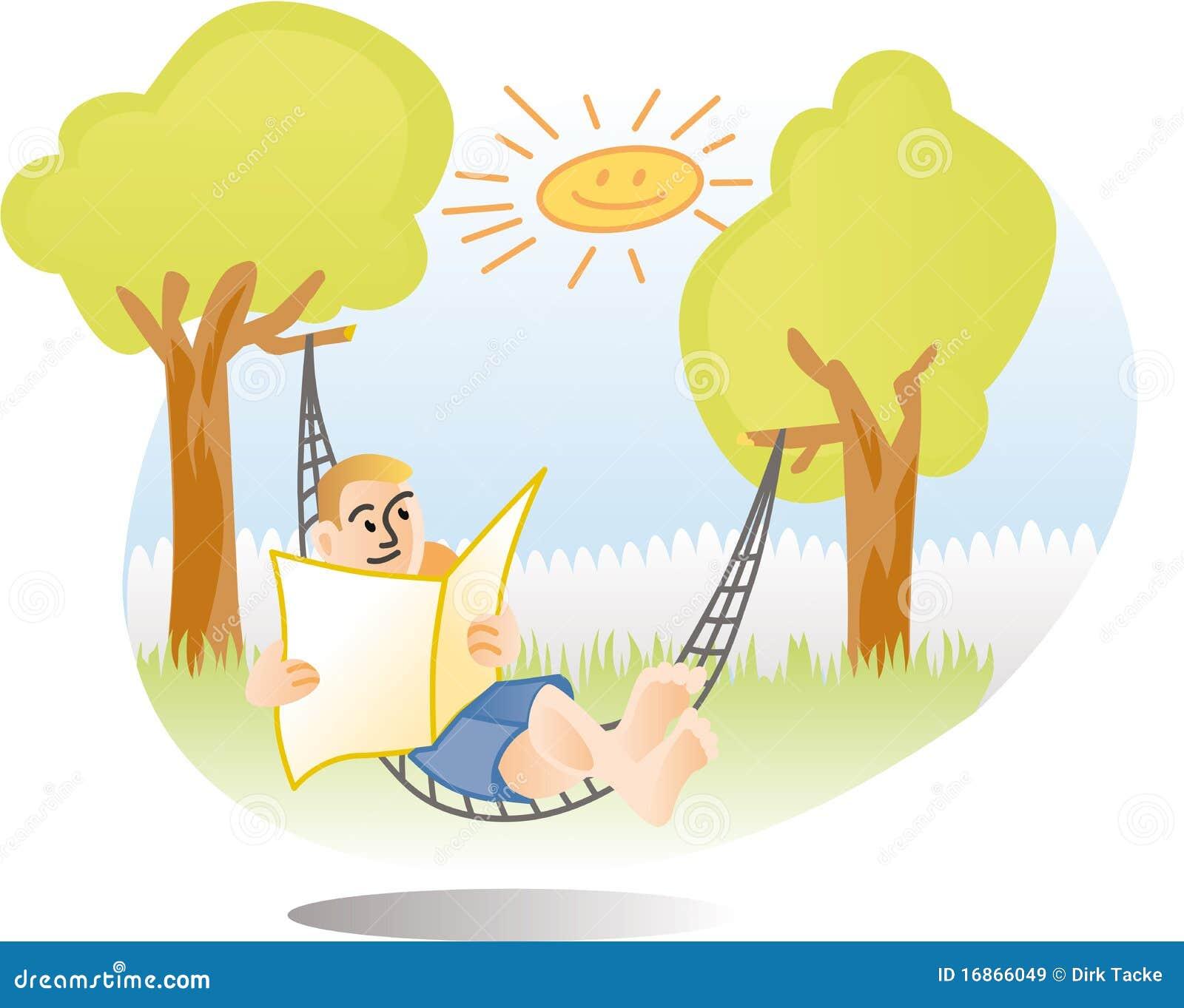 free clipart hammock cartoon - photo #46