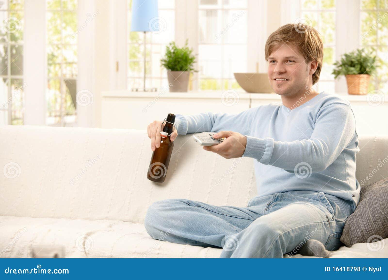 Man Relaxing At Home Royalty Free Stock Photos Image