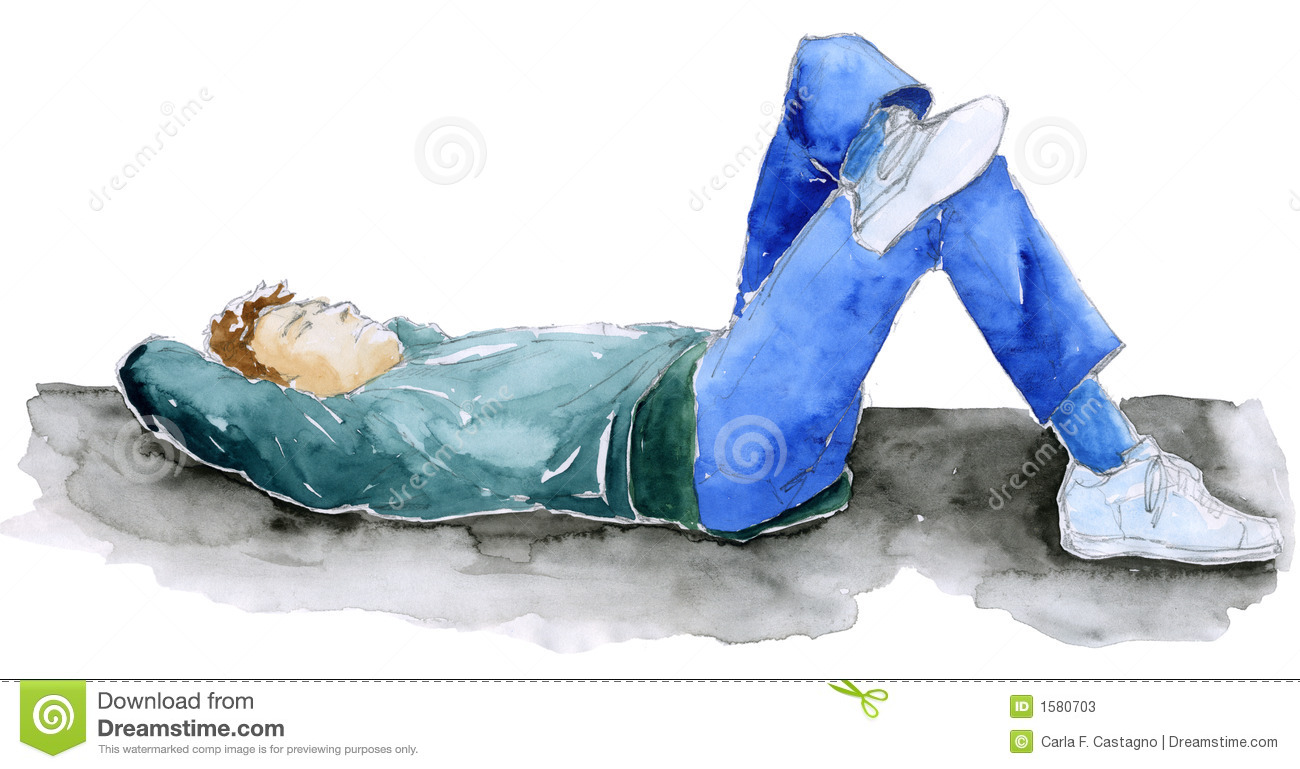 man relaxing sketch stock illustration illustration of laying