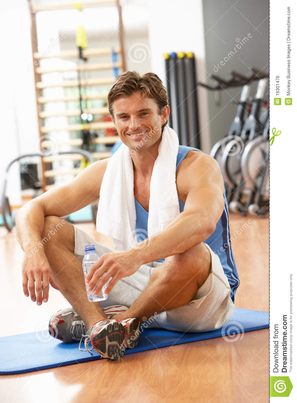 Man Resting After Exercise Royalty Free Stock Image