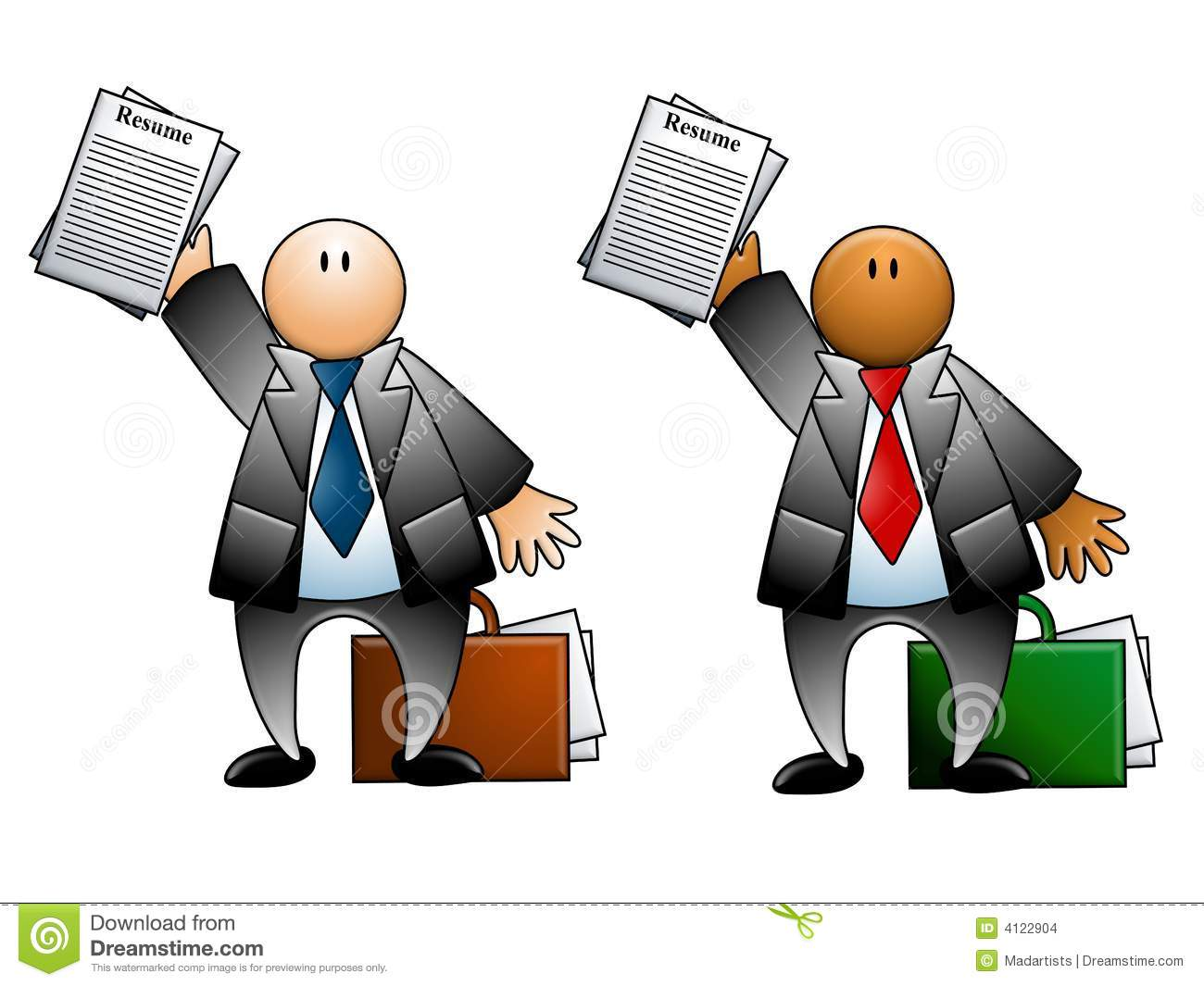 Man With Resume and Briefcase