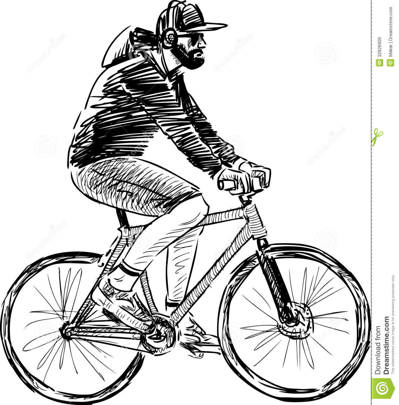 Man Riding A Bicycle Royalty Free Stock Images - Image: 32826909