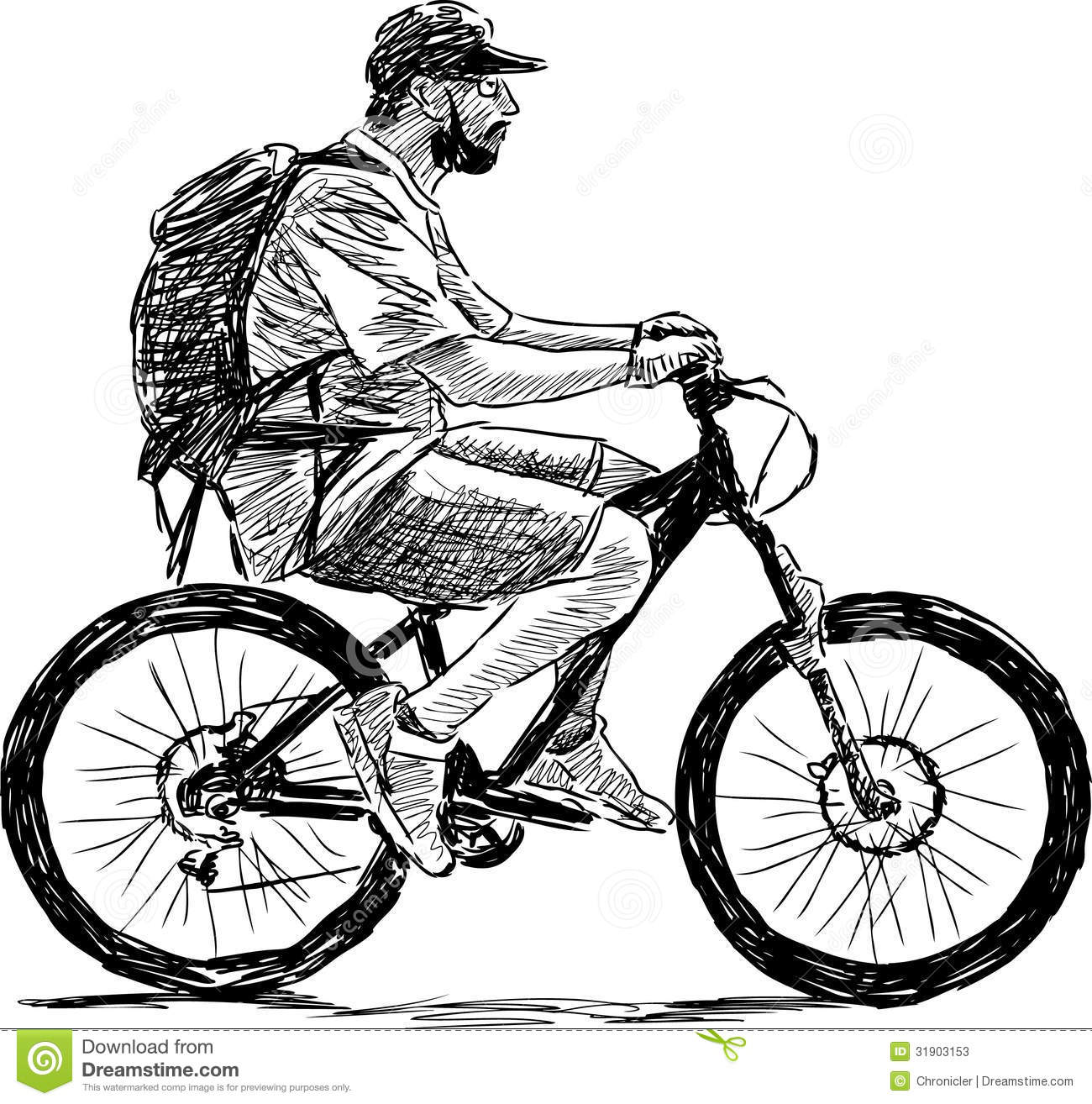 Man riding a bicycle stock image. Image of sport, healthy ...
