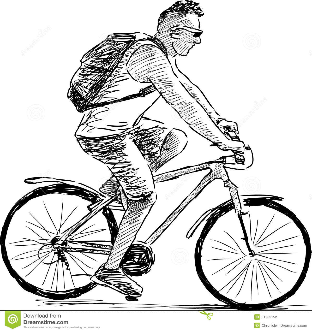 Man riding a cycle stock photo. Image of male, bicycle ...