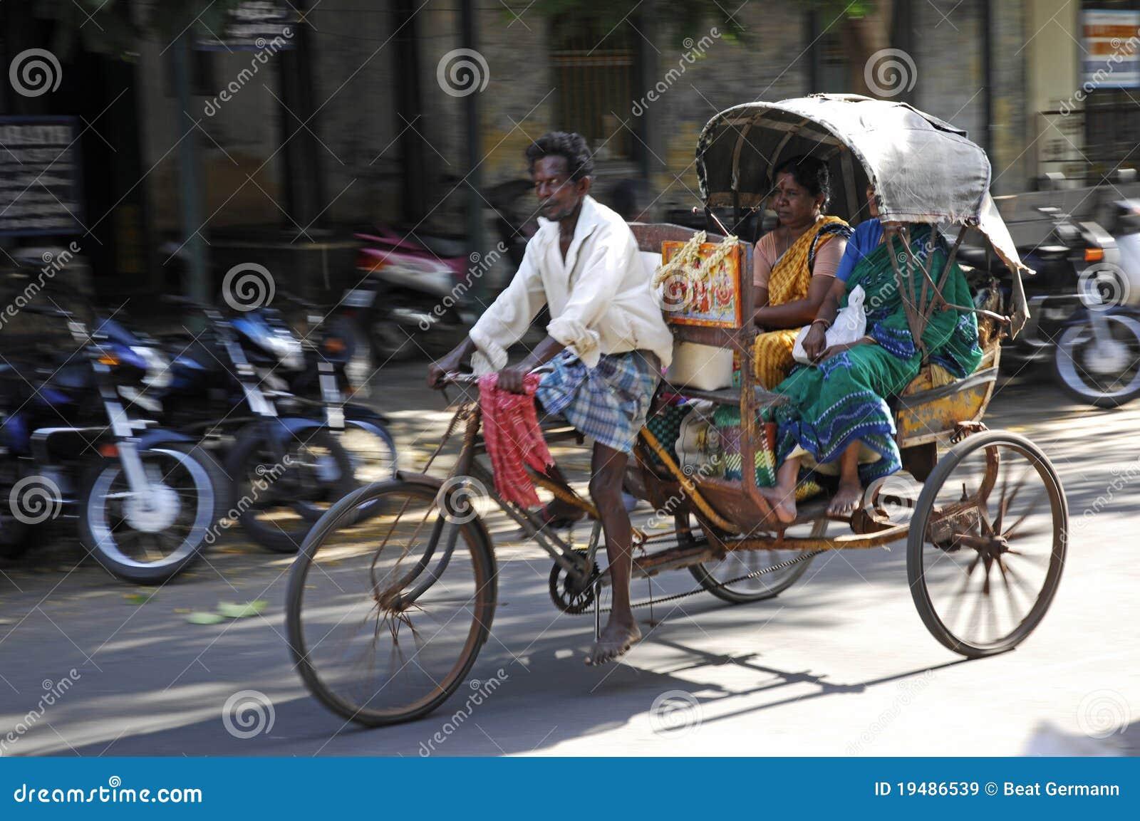 Man with Riksha in Jaipur, India