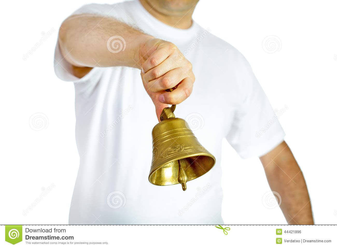 Woman Ringing Little Bell