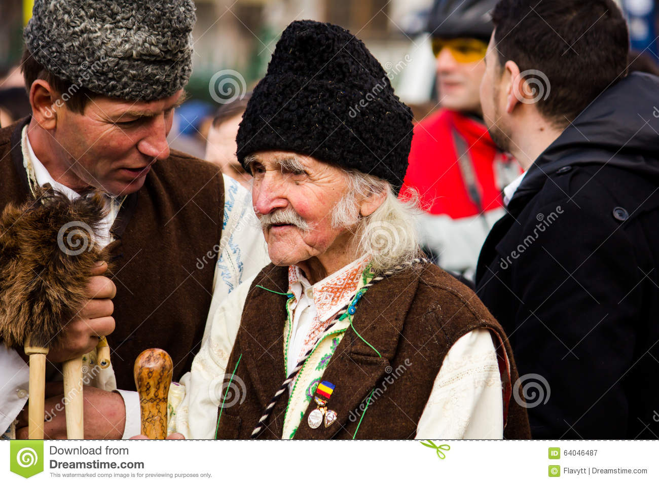 Man in Romanian traditional costume