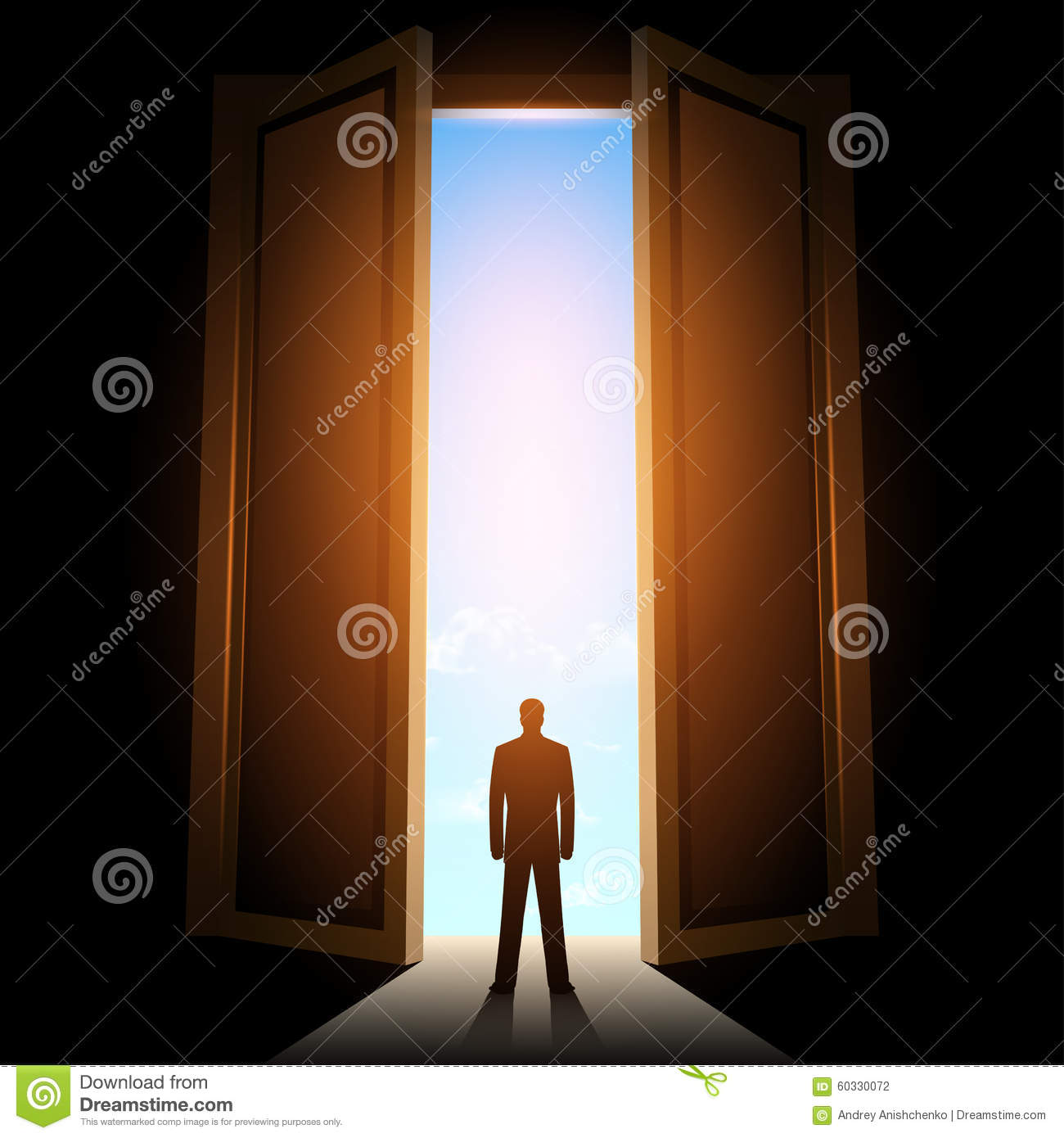 People Exit The Back Door Stock Photography