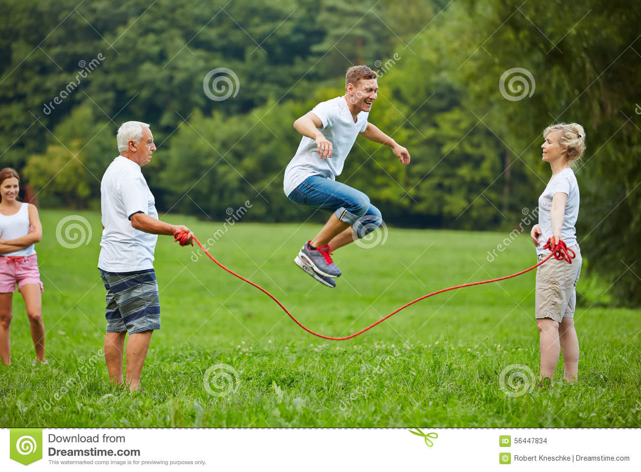 Man Rope Skipping With Jumping Rope Stock Photo - Image ...