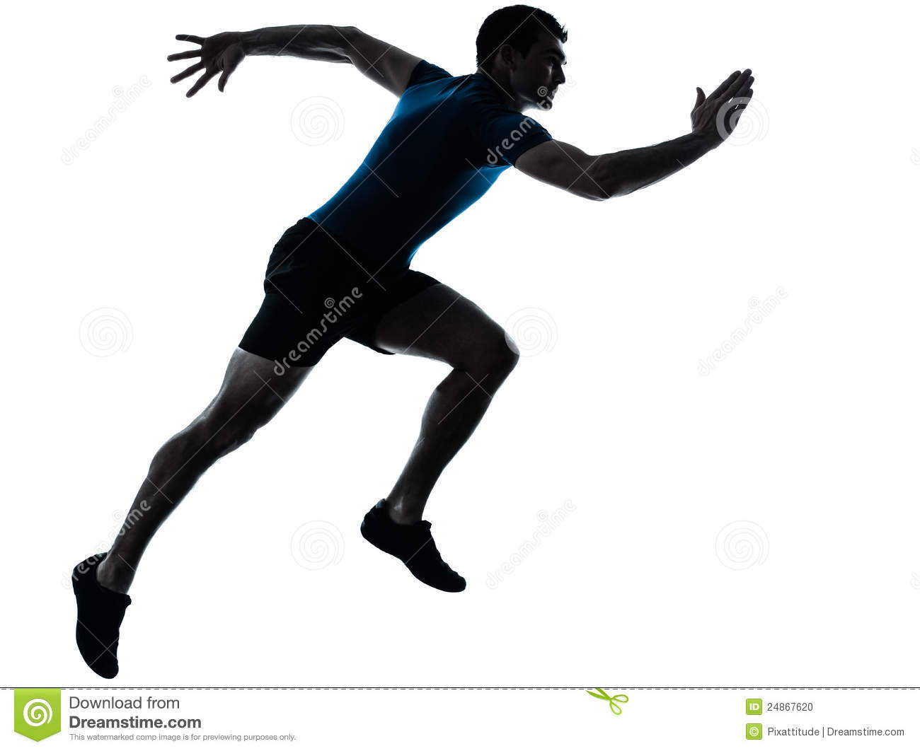 Man Runner Running Sprinter Sprinting Stock Photo - Image ...