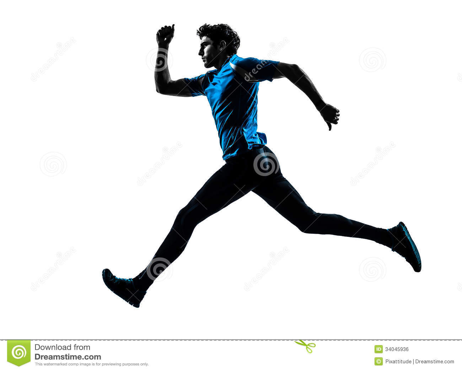 Man Runner Sprinter Jogger Silhouette Royalty Free Stock Image - Image ...