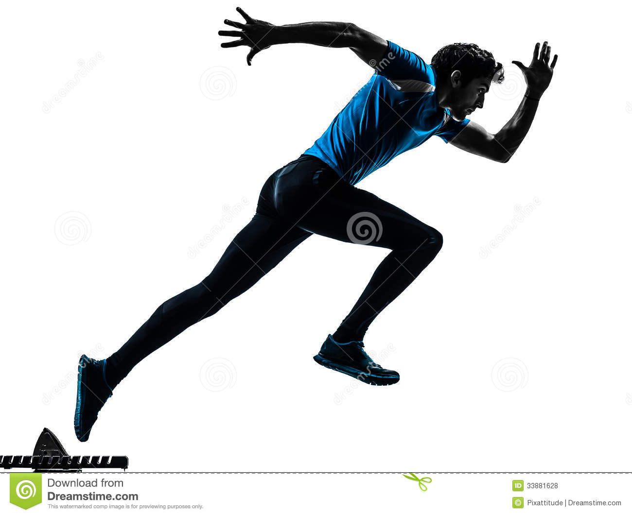 Man Runner Sprinter Silhouette Stock Photo - Image of ...
