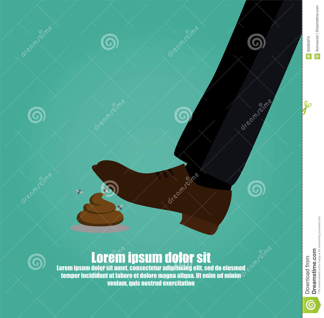 Man S Foot Stepping Into A Pile Of Dog Poop Stock Vector