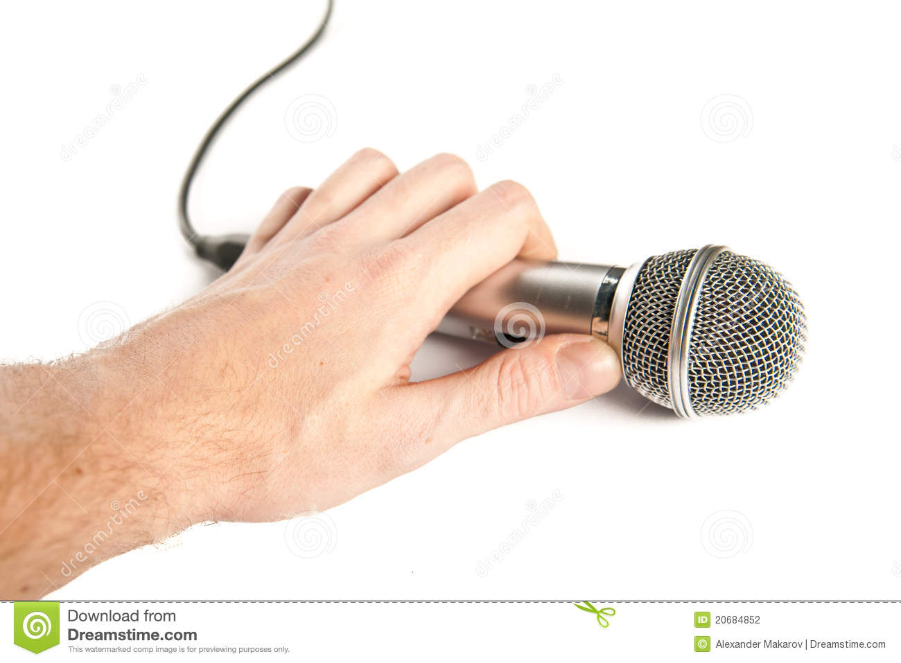 Holding Microphone | man hand holding microphone stock