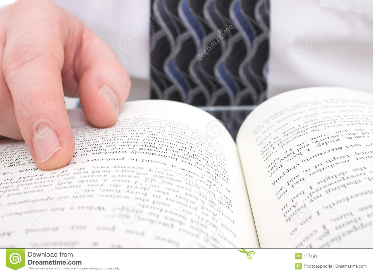 Download Man's Hand On Open Book stock image. Image of read, hand - 117191