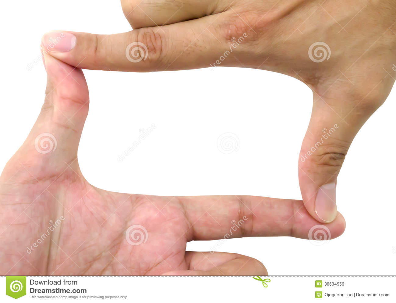Mans Hands Making Photo Frame Stock Photo - Image of isolated, shape ...