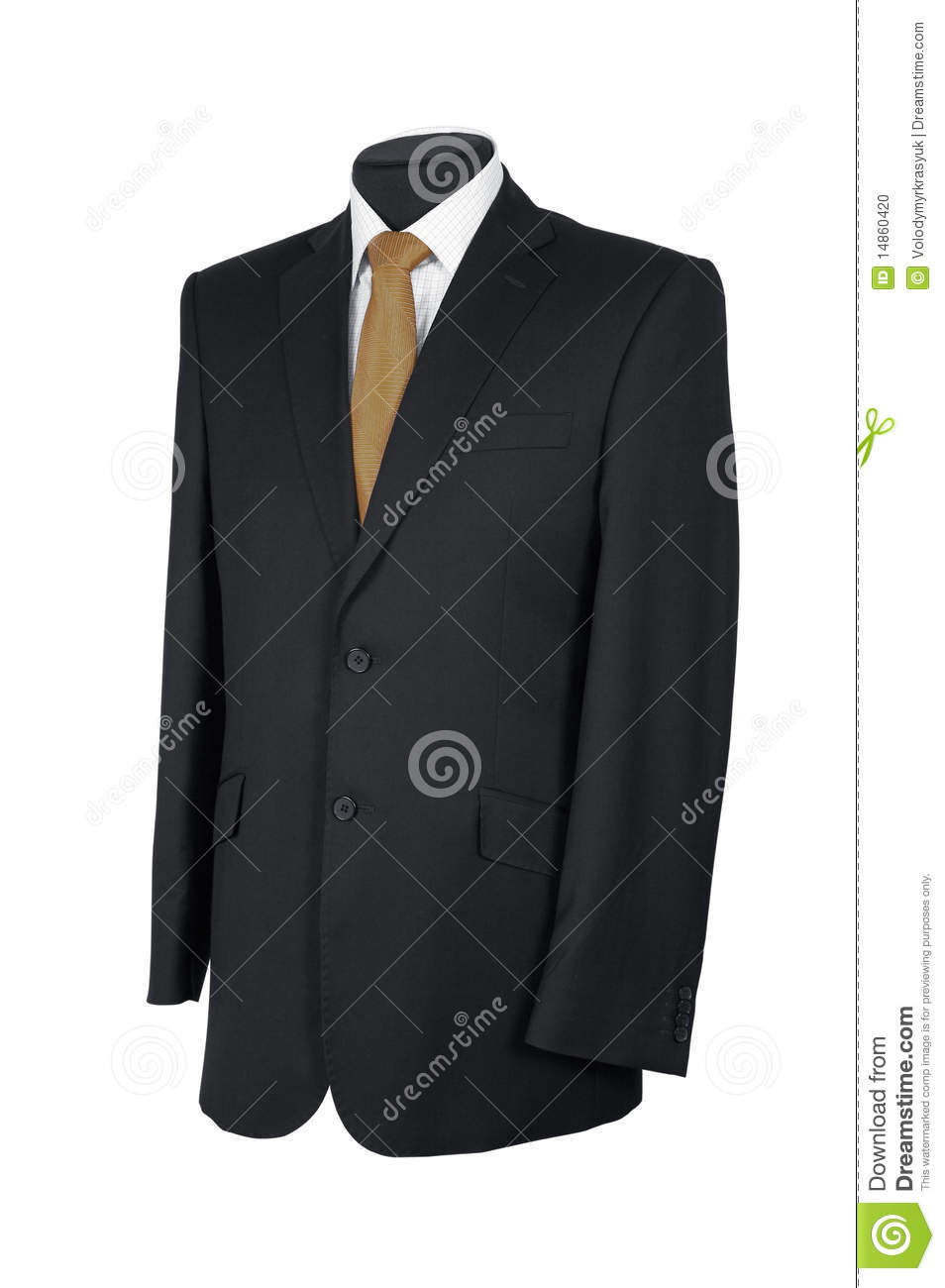 Man s suit isolated