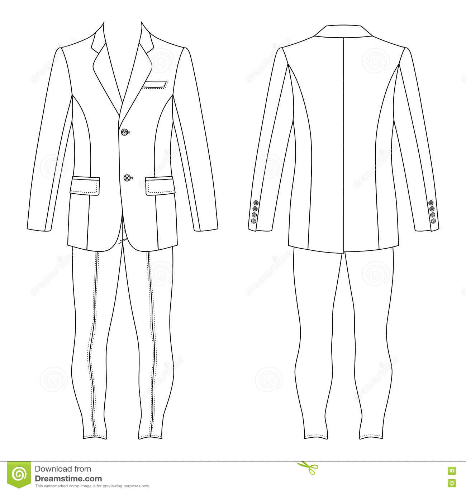 24eee98d45 Man`s suit stock vector. Illustration of sketch, outline - 81405575