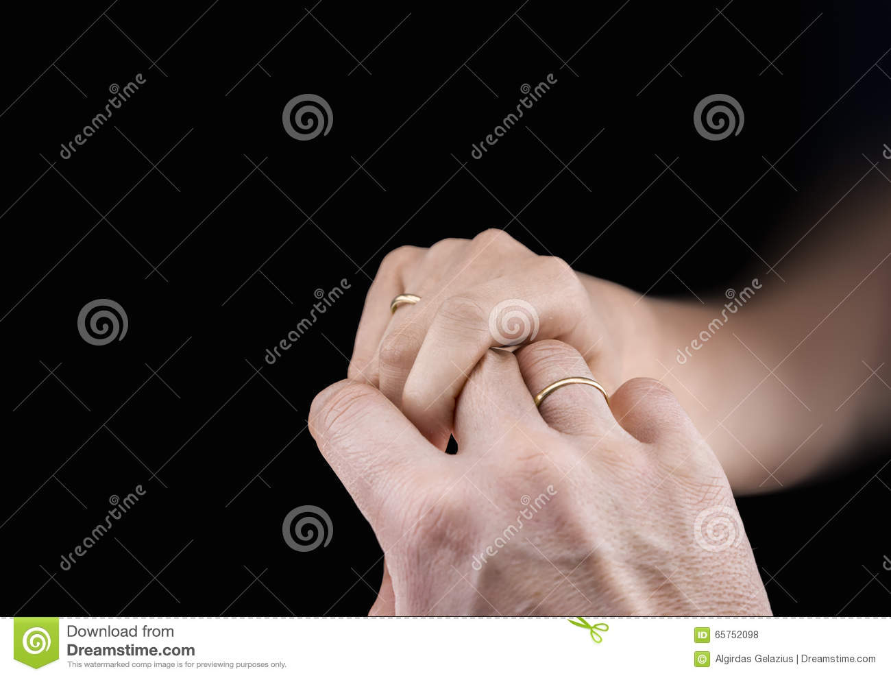 Man\'s And Woman\'s Hands With Wedding Rings Stock Photo - Image of ...
