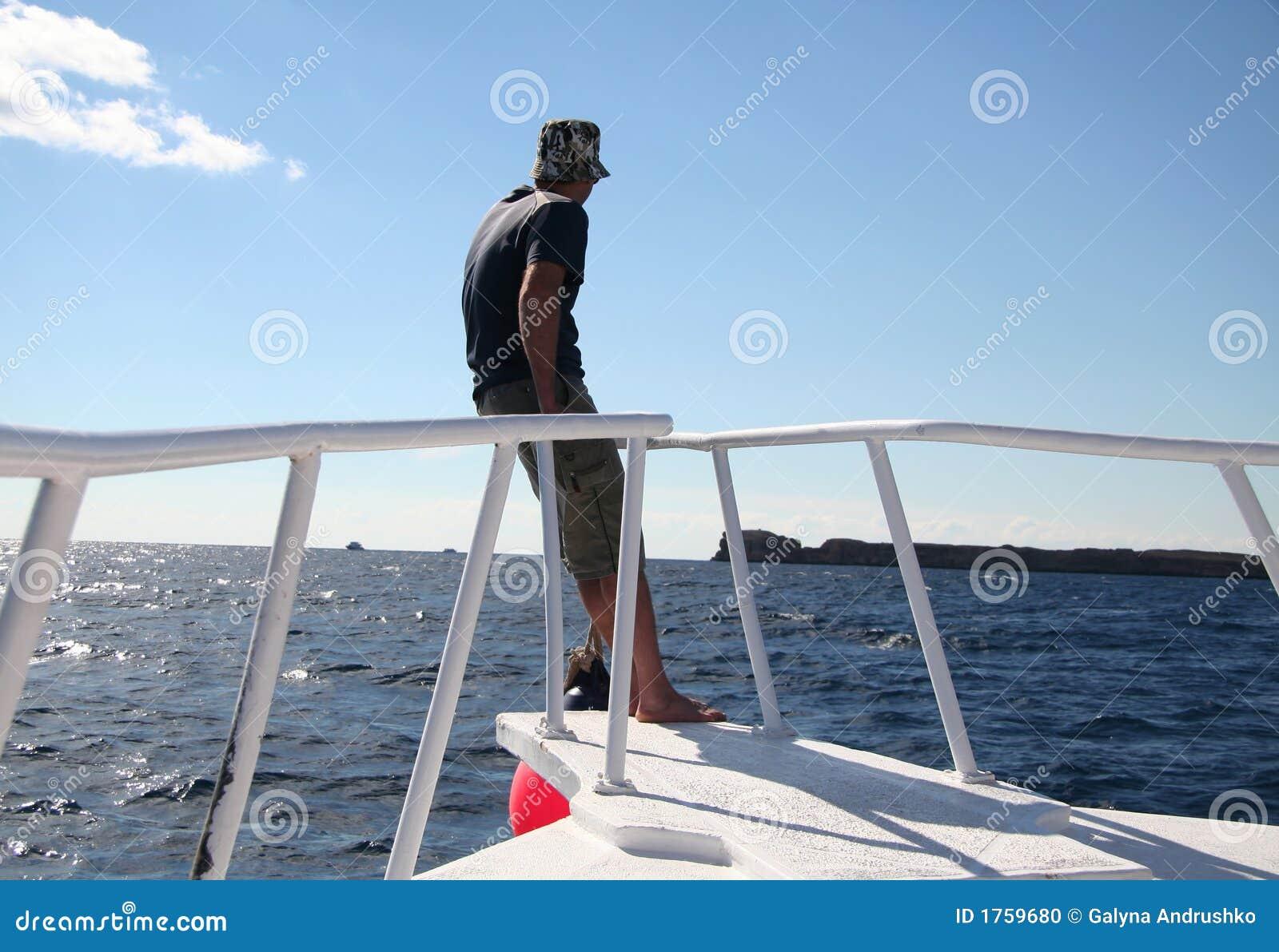 Man On The Sailing Boat Stock Photo - Image: 1759680