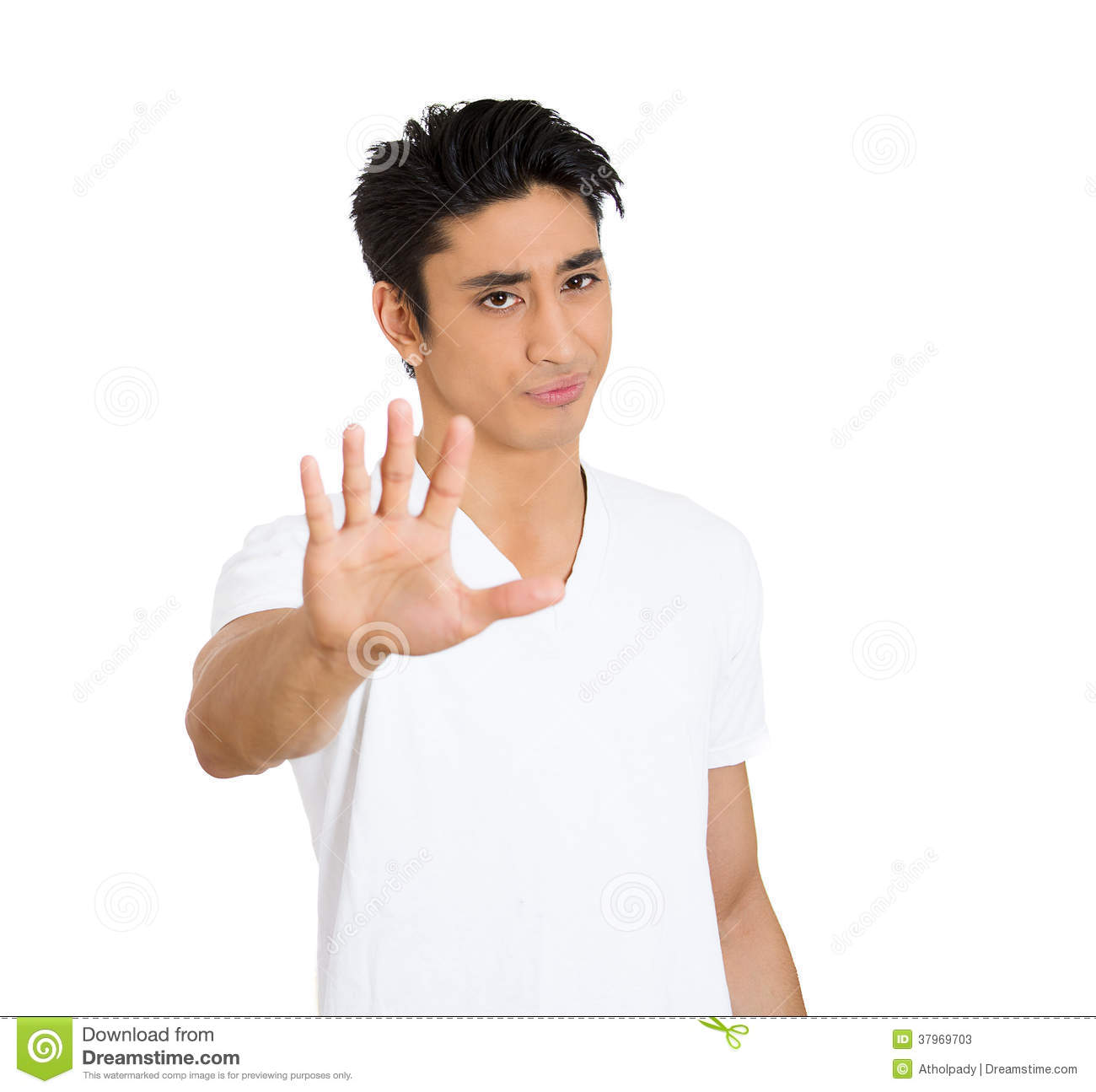 Man Saying No Stop Right There Stock Photos - Image: 37969703