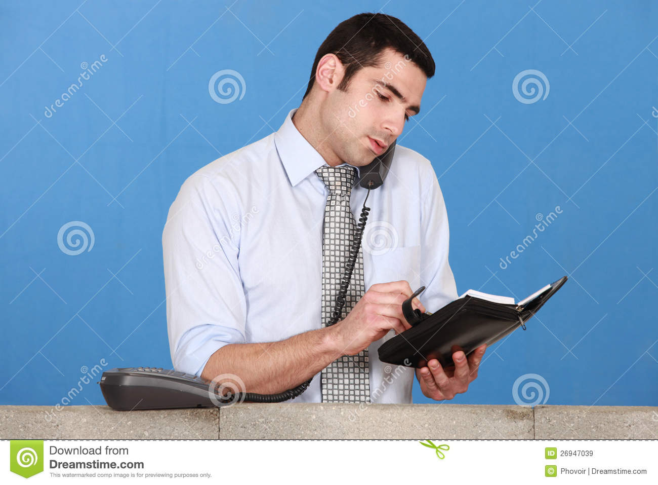 Man scheduling an appointment