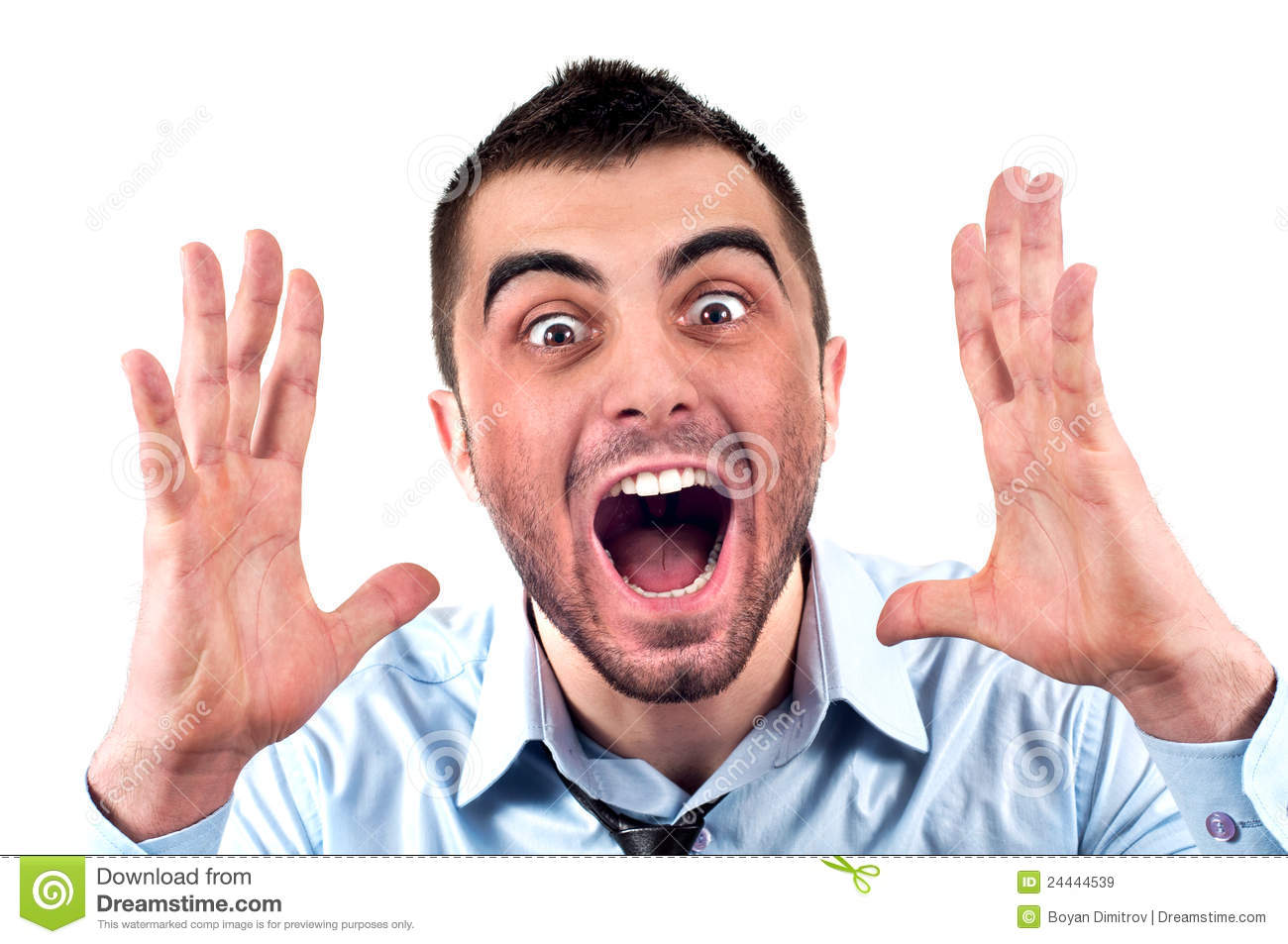 Man Screaming Royalty Free Stock Images - Image: 24444539