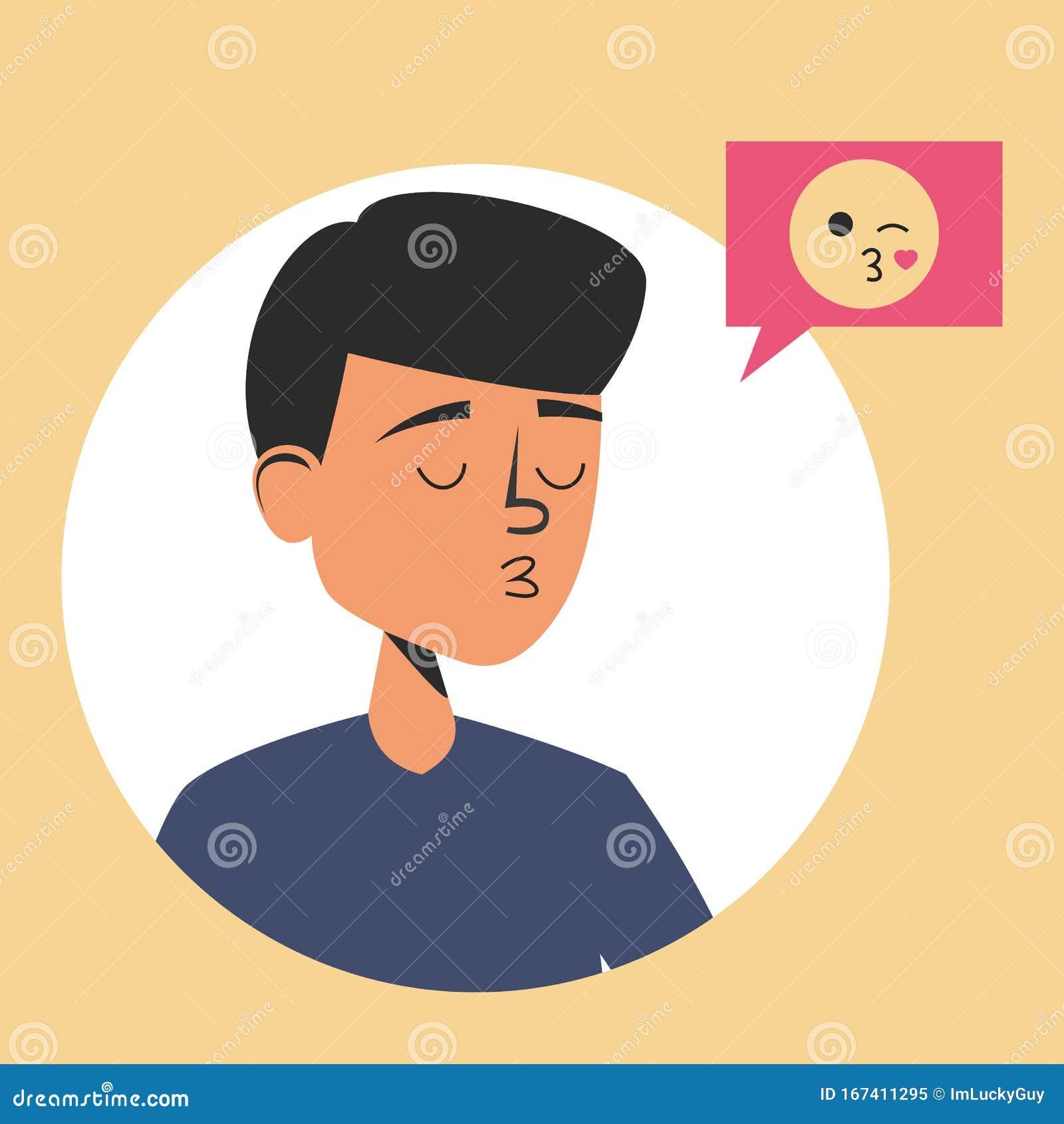 Guy a a when heart emoji sends Emojis Guys