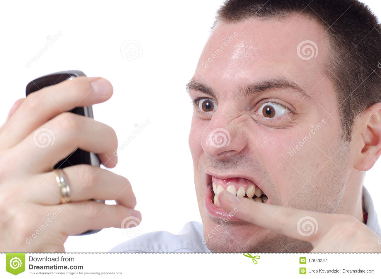 Man Seriously Upset Raging On His Phone Stock Image ... Frustrated Person On Phone